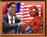 Sort my tiles Obama and Spiderman játék