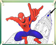 Spiderman flying coloring P�kemberes j�t�kok ingyen